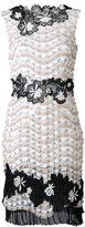 Talbot Runhof embellished floral shift dress