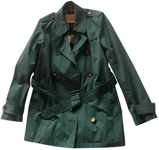 Burberry Turquoise Cotton Trench Coat for Women