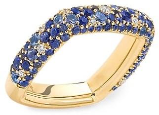 Robinson Pelham Zone 18K Yellow Gold, Blue Sapphire & Diamond Ring