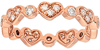 Diamond Select Cuts Nephora 14K Rose Gold 0.40 Ct. Tw. Diamond Pave Heart Shape Stackable Ring