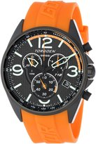 Torgoen Pilot T18305 45mm Stainless Steel Case Orange Polyurethane Hardlex Men's Watch
