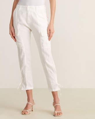 Joie Porcelain Lace-Up Pants