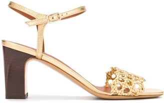 Michel Vivien Woven Strap Sandals