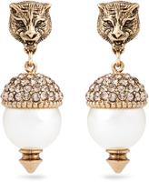 Gucci Feline pearl-effect embellished earrings