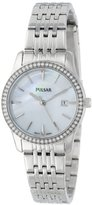 Seiko PULSAR Unisex PH7233 Analog Japanese-Quartz Silver Watch