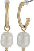 The Sak Pearl Hoop Drop Earrings