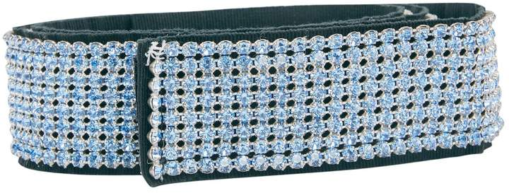 Dolce & Gabbana Blue Glitter Belts