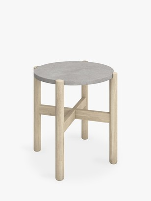 John Lewis & Partners Cradle Round Garden Side Table, FSC-Certified (Acacia Wood)