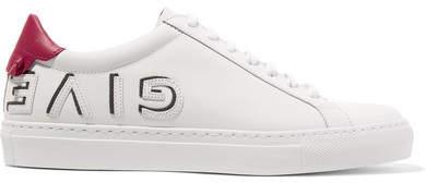 Givenchy Urban Logo-appliquéd Leather Sneakers - White