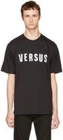 Versus Black Embroidered Logo T-shirt