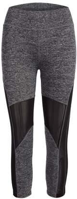 Crush Women's Leggings GRAY - Gray & Black Mesh-Panel Capri Leggings - Women