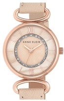 Anne Klein Women's Leather Strap Watch, 32Mm