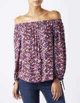 Monsoon Lois Print Off Shoulder Top