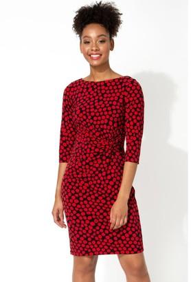 M&Co Roman Originals spot twist waist dress