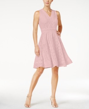 Charter Club Petite Lace Fit & Flare Dress, Created for Macy's