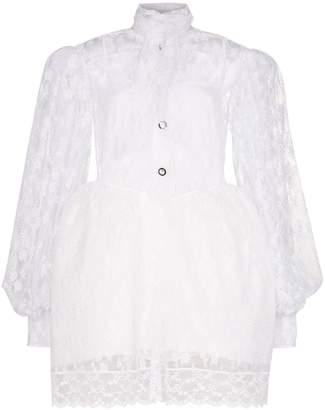 Christopher Kane puff sleeve lace mini dress