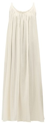 Loup Charmant Scoop-back Cotton-gauze Maxi Dress - Womens - Ivory