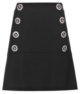 Dolce & Gabbana Embellished Virgin Wool Skirt