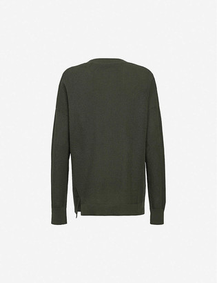 AllSaints Vita brand-pattern cotton-knit jumper