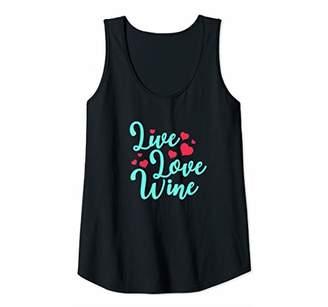 Womens Live Love Wine Tank Top