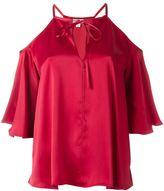 Temperley London cold-shoulder blouse