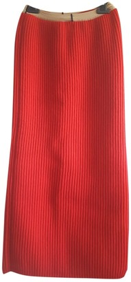 Calvin Klein Red Wool Skirt for Women