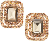 Greenbeads Pave-Set Faceted Stone Clip-On Earrings, Gold