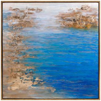 Imax Worldwide Home Cobalt Tenor Framed Oil Painting, Gold