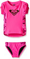 Roxy Little Girls' Girl Pop Logo Rashguard Set