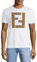 Fendi Faux-Leather Logo T-Shirt