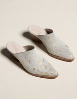 Coconuts Camelot Womens Stacked Heel Mules