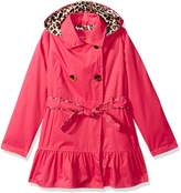 Pink Platinum Big Girls' Classic Trench with Satin Lining