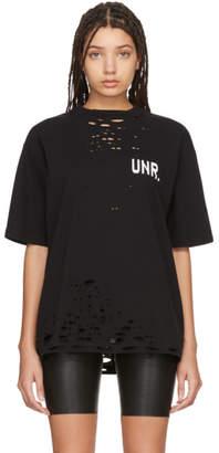Unravel Black LAX Distressed Skate T-Shirt