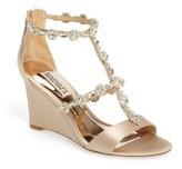 Badgley Mischka Women's Tabby Embellished Wedge Sandal