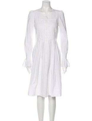 Co Crew Neck Knee-Length Dress White