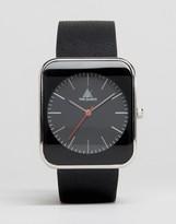 Asos Sleek Square Watch In Black
