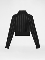 DKNY Cropped Pinstripe Pullover