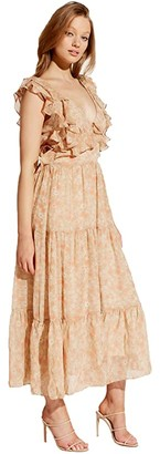 Bardot Simon Floral Dress (Tan Ditsy) Women's Clothing