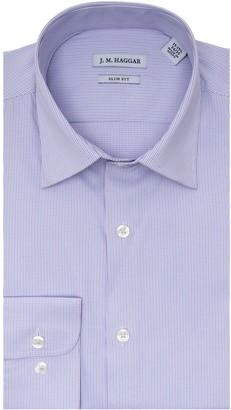 Haggar Men's J.M. Slim-Fit Premium Performance Spread-Collar Dress Shirt