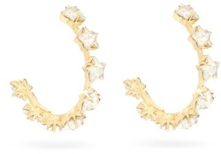 Rosantica Milky Way Star-crystal Hoop Earrings - Womens - Crystal