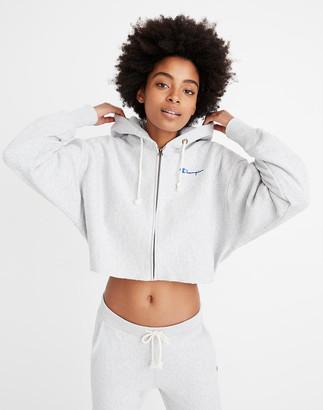 Madewell Champion Reverse Weave Cropped Full-Zip Hoodie Sweatshirt