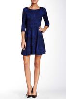 Taylor 5140M Animal Print Ponte Dress