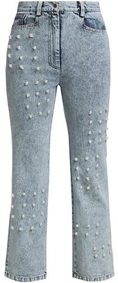 Sea Pearl Embellished Jeans