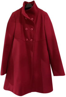 Benetton Red Synthetic Coats