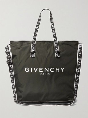 Givenchy Packable Logo-Jacquard Leather-Trimmed Shell Tote
