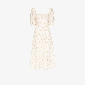 Reformation Belgium floral print midi dress