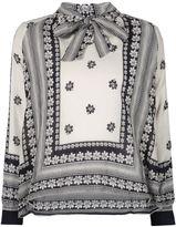 Sea tie-neck printed blouse - women - Silk/Cotton - 8