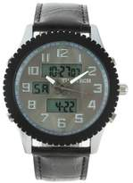 Timetech Men's 2814GY Analog Digital Leather Multifunction Watch