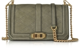 Rebecca Minkoff Green Embossed Nubuck Love Crossbody Bag