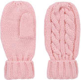 Joe Fresh Toddler Girls' Cable Knit Mitts, Light Pink (Size 4-5)